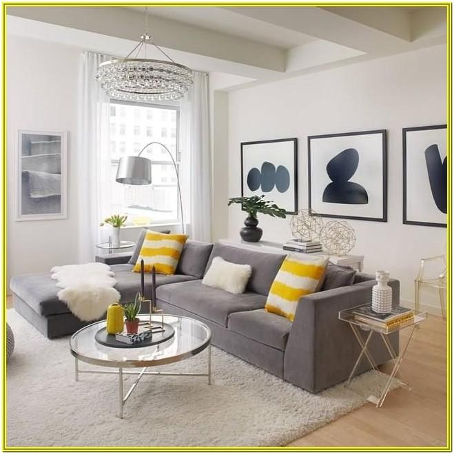 Dark Grey And Yellow Living Room Ideas