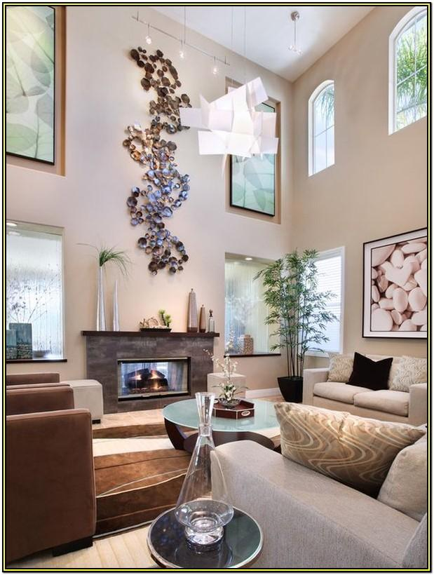 Decorating Living Room Walls With High Ceilings