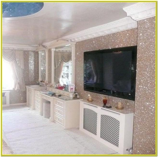 Gold Glitter Wallpaper Living Room Ideas