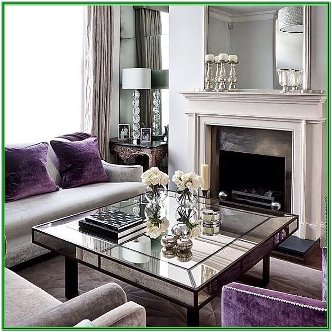 Gray And Purple Living Room Decorating Ideas