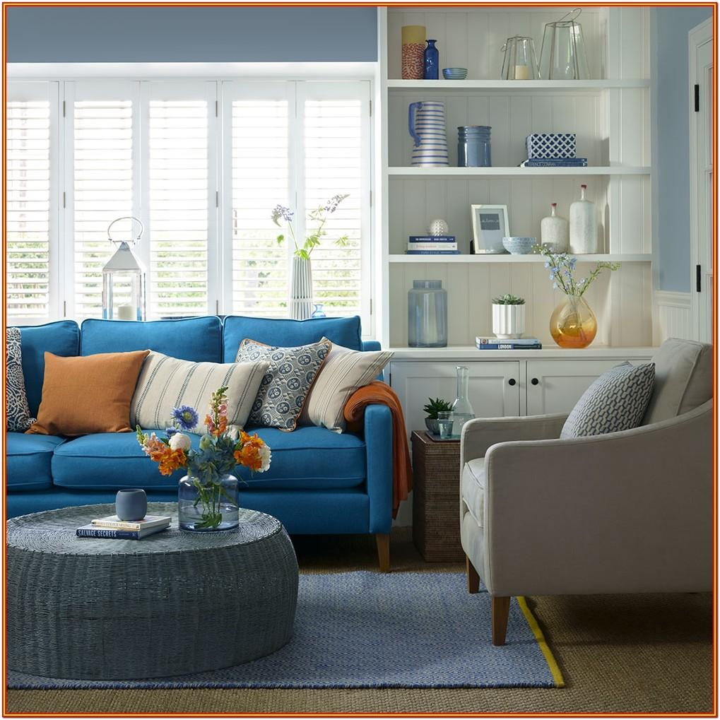 How To Decorate Living Room With Blue Sofa