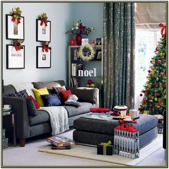 Interior Living Room Christmas Decorated House