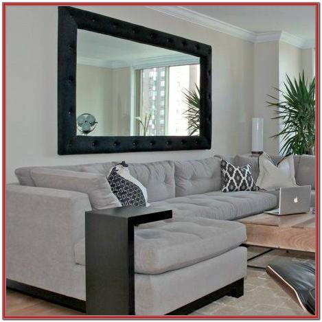 Large Mirror In Living Room & Decorating