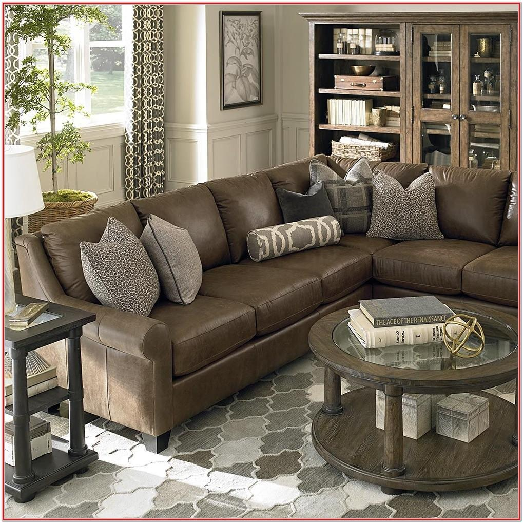 Leather Sectional Living Room Decor