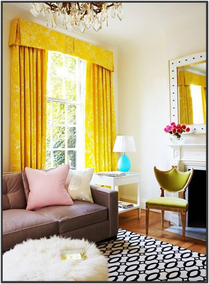 Living Room Curtain Valance Ideas