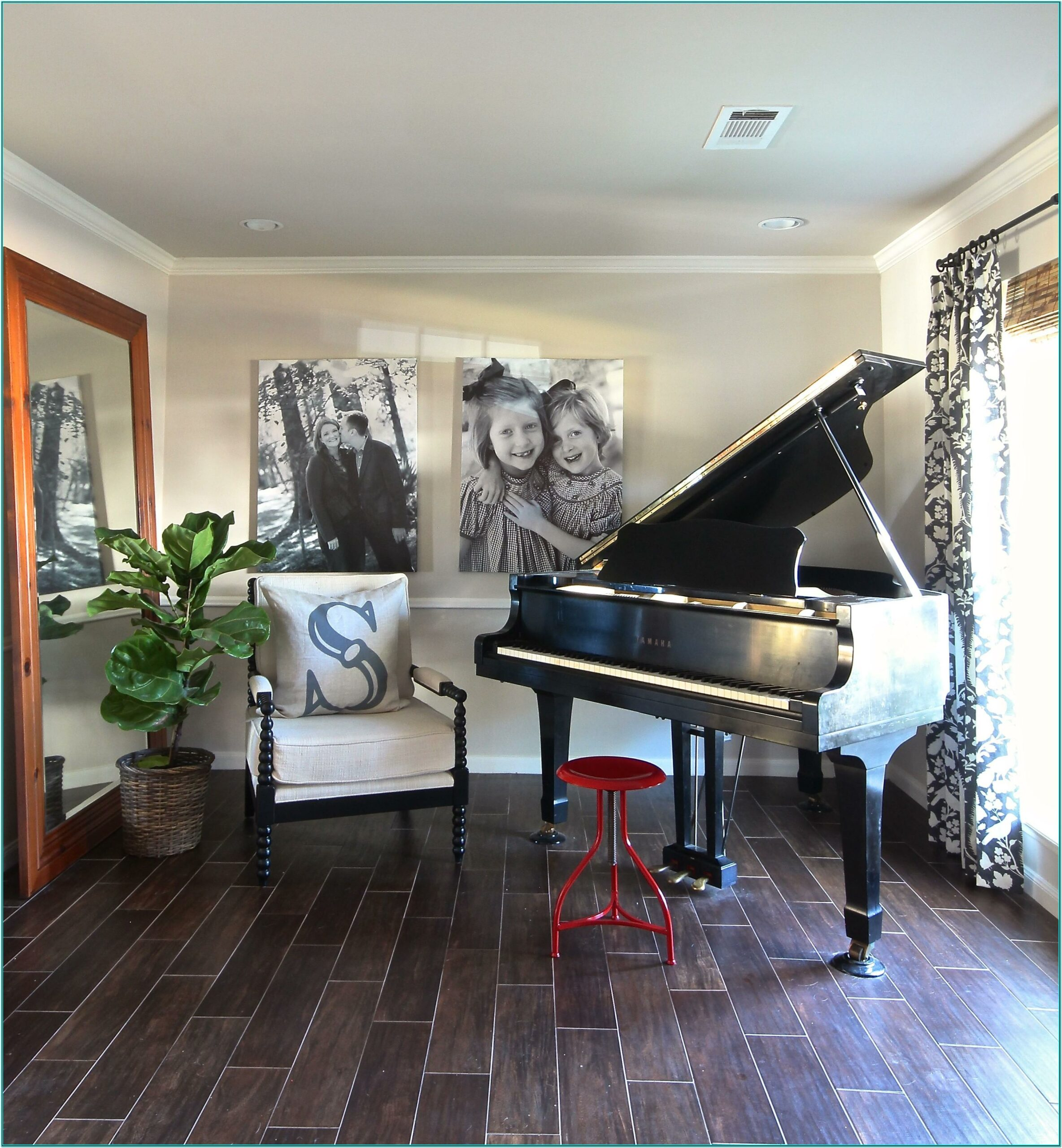 Living Room Decorating Ideas Baby Grand Piano