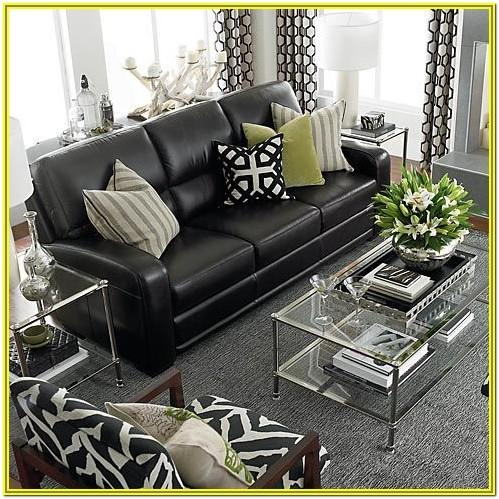 Living Room Decorating Ideas With Black Leather Couch