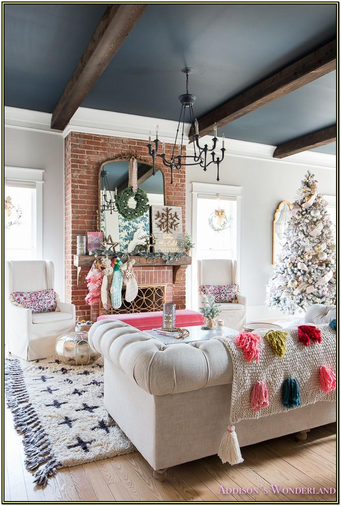 Living Room House Decorating Ideas For Christmas