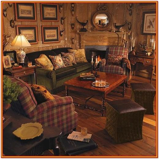 Living Room Hunting Lodge Decor