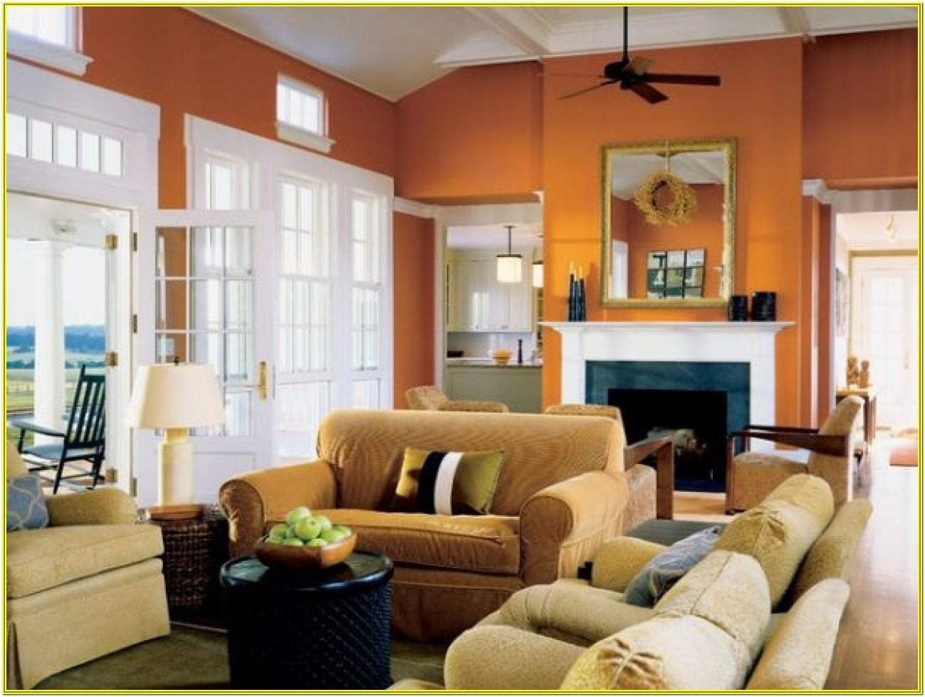 Living Room Ideas With Burnt Orange Walls