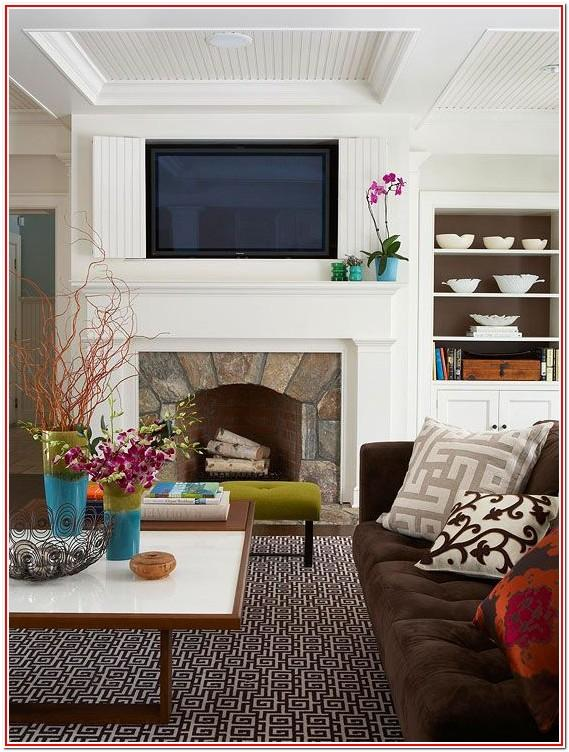 Living Room Mantel Decor With Tv