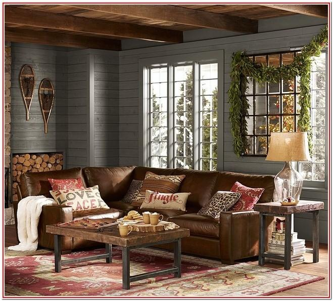 Living Room Rustic Decor Red And Brown