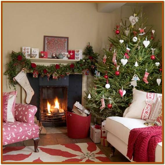 Living Room Small Space Christmas Decorations Indoor