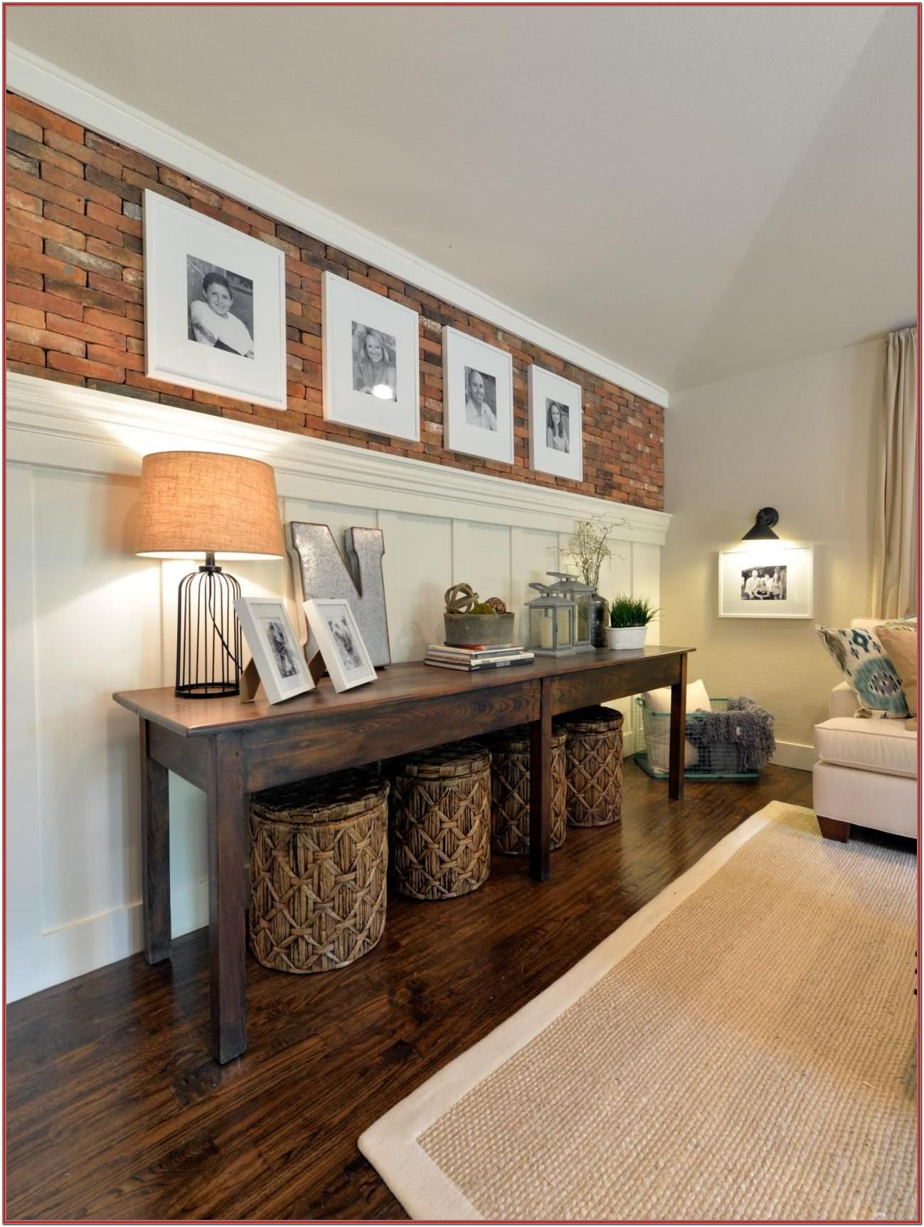 Long Living Room Wall Decorating Ideas
