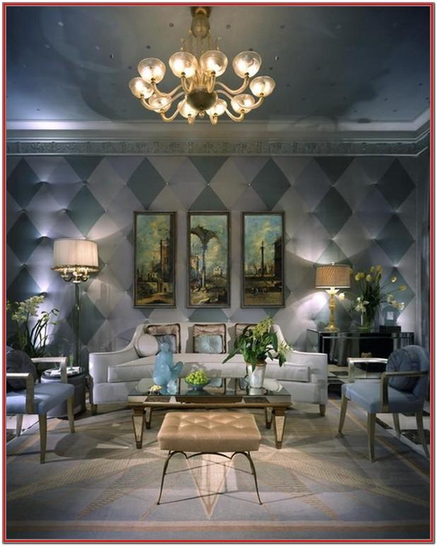 Luxury Living Rooms Decorated For Christmas