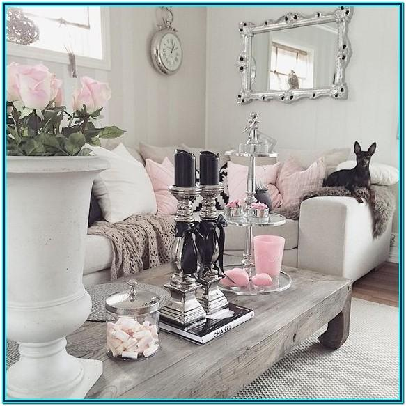 Pink And Gray Living Room Decor