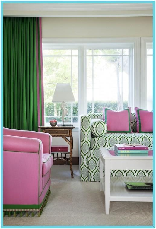 Pink And Green Living Room Decor