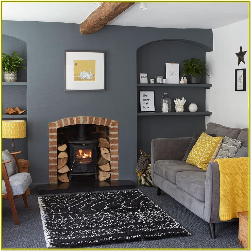 Silver Grey And Yellow Living Room Ideas