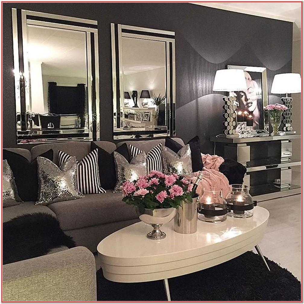 Silver Living Room Decorations