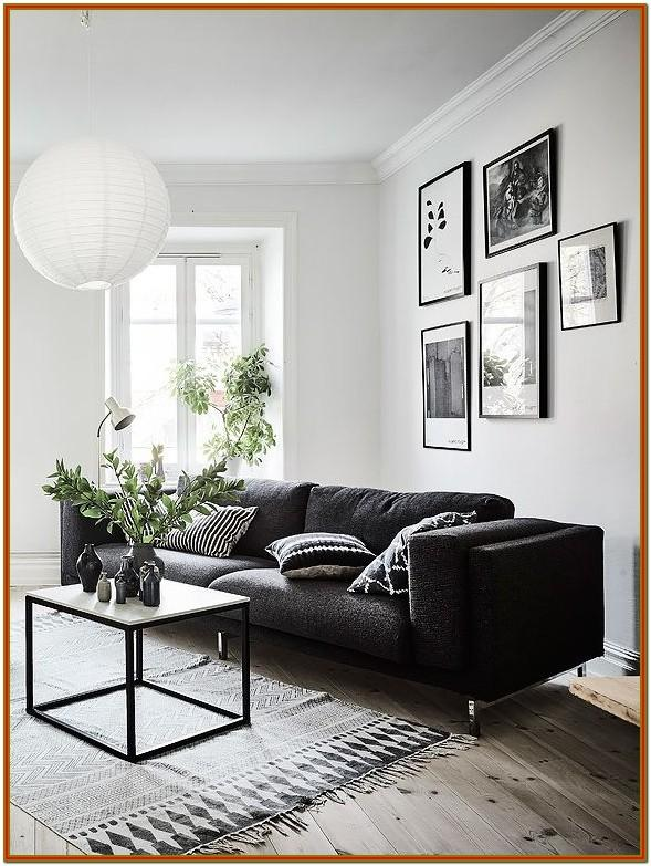Small Grey And Black Living Room Decor