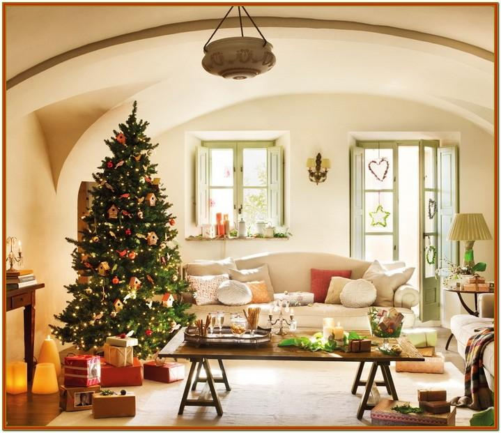 Small Living Rooms Decorated For Christmas