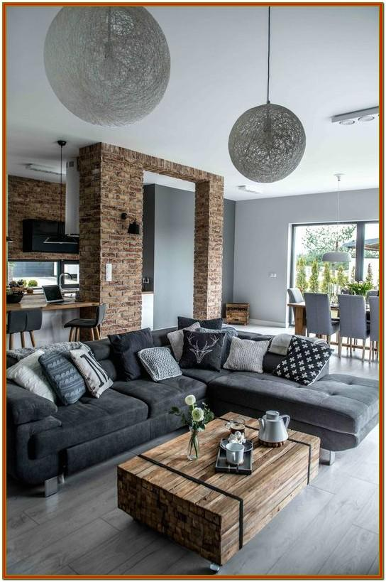 Small Space Gray Modern Living Room Decor