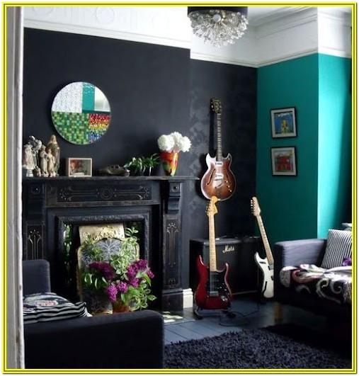Teal And Black Living Room Ideas