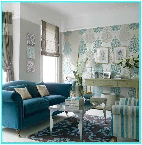 Turquoise And Grey Living Room Decor