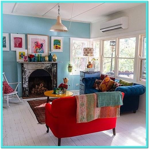 Turquoise And Yellow Living Room Decor