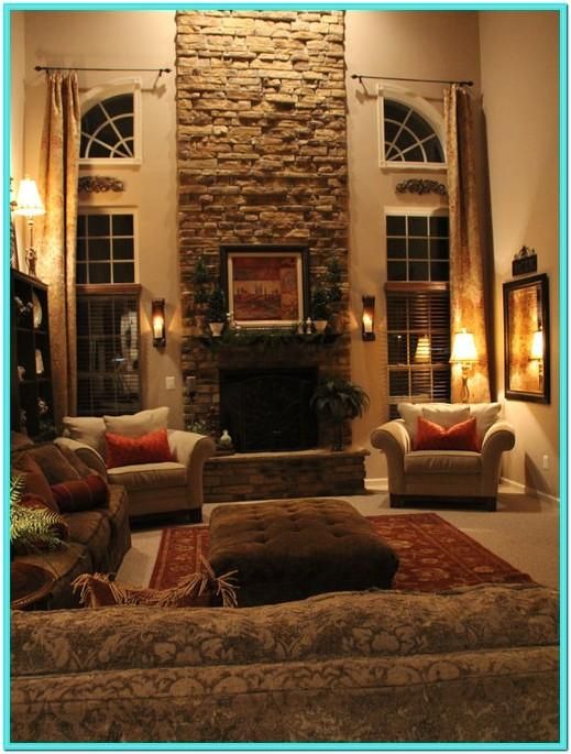 Two Story Living Room Decorating Ideas