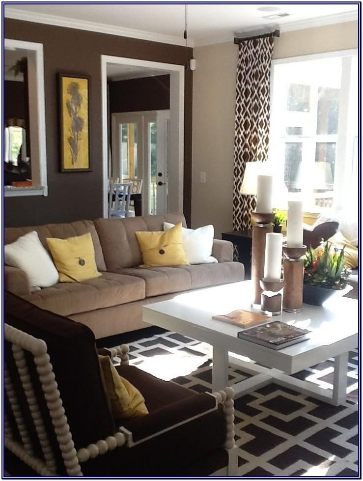 White And Brown Living Room Decor