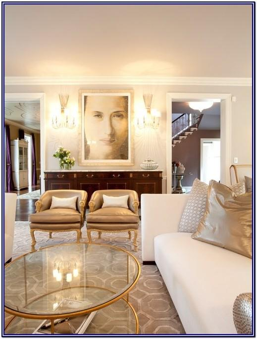 White And Gold Decor Living Room