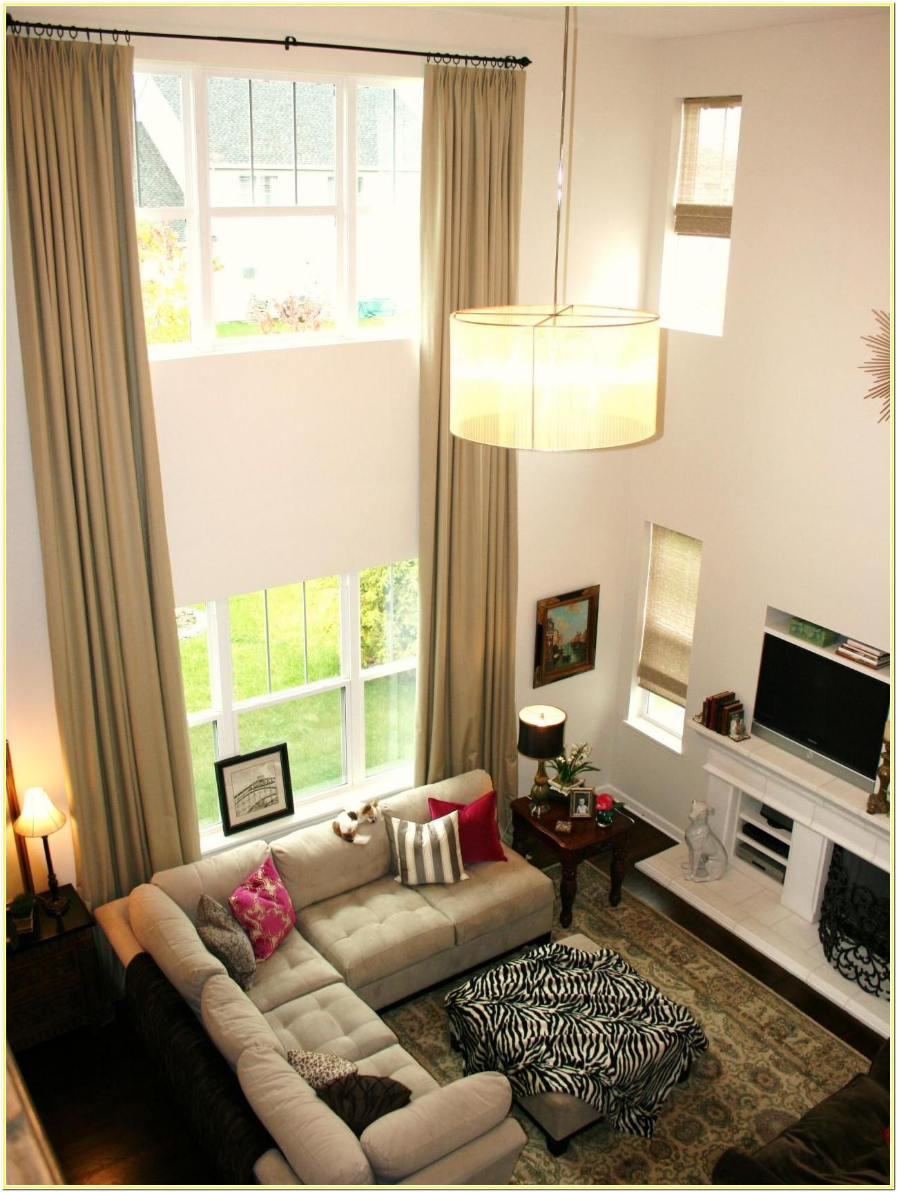 2 Story Living Room Curtains Ideas