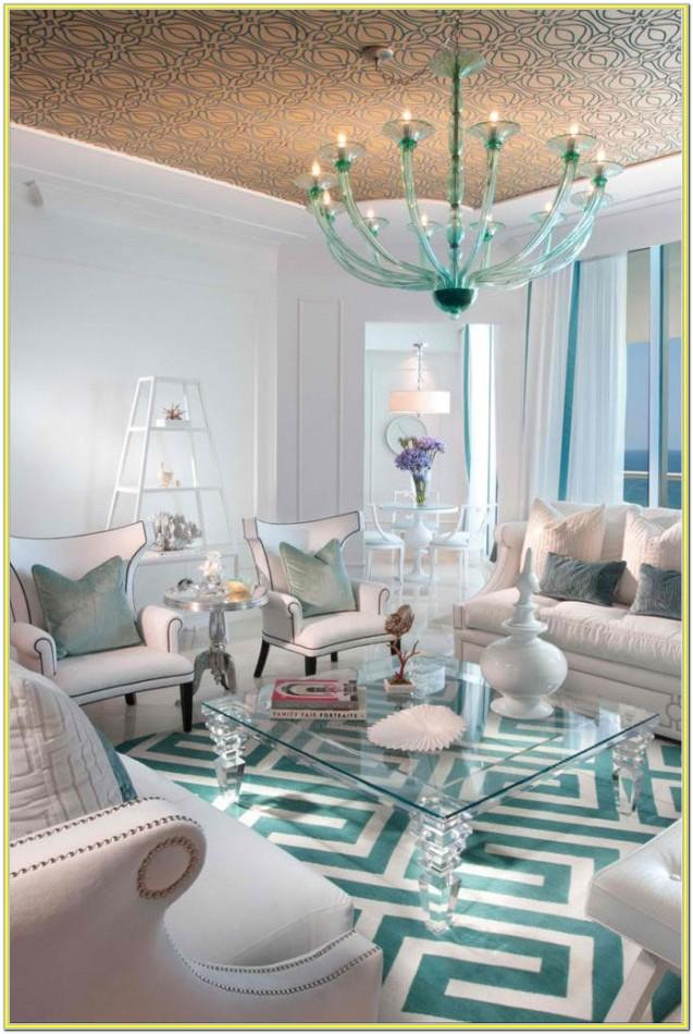 Black White And Turquoise Living Room Ideas
