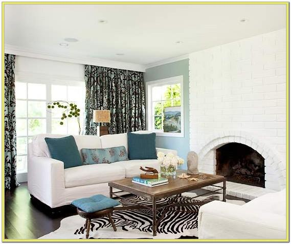 Blue Accent Table Idea Living Room