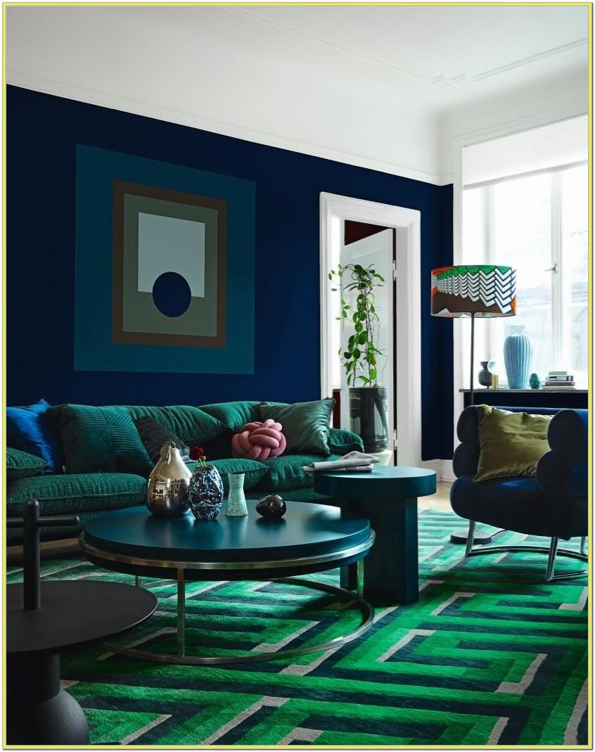 Blue Living Room Ideas 2018