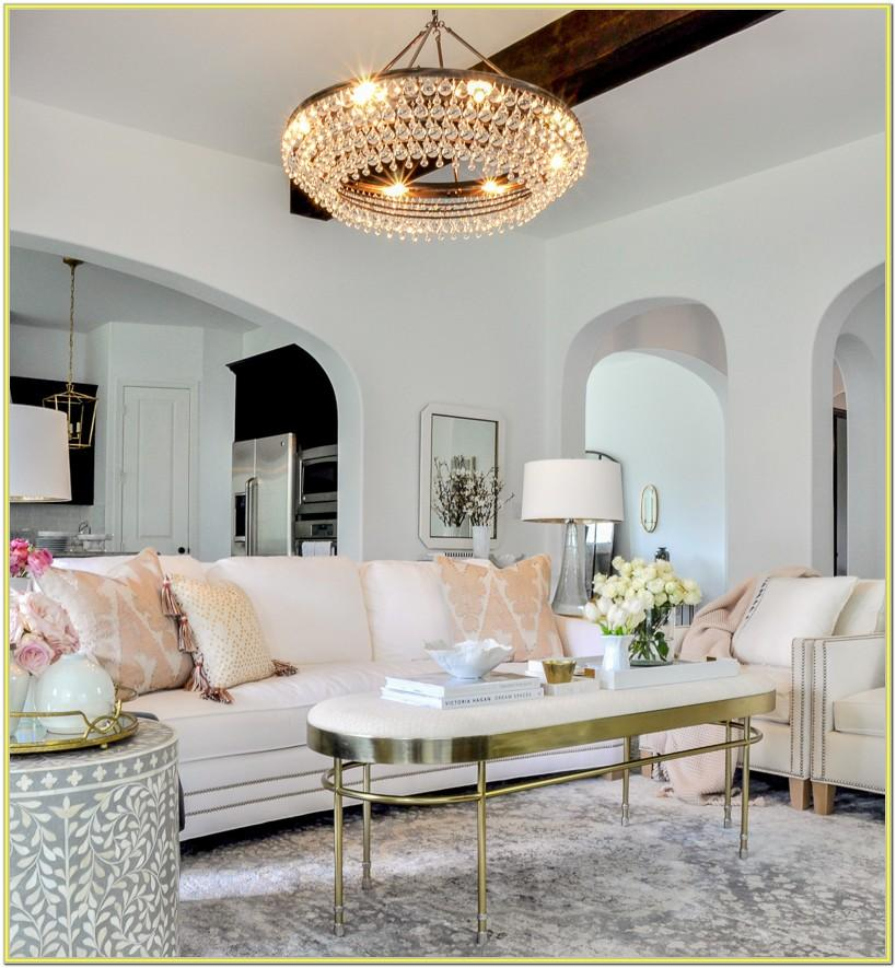 Blush And Gold Living Room Ideas