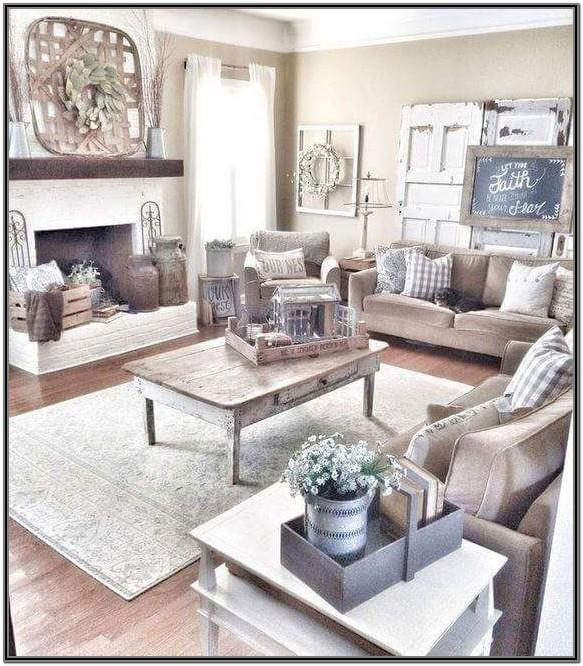 Brown And Beige Living Room Ideas Farmhouse