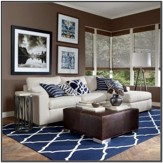 Brown And Blue Living Room Ideas