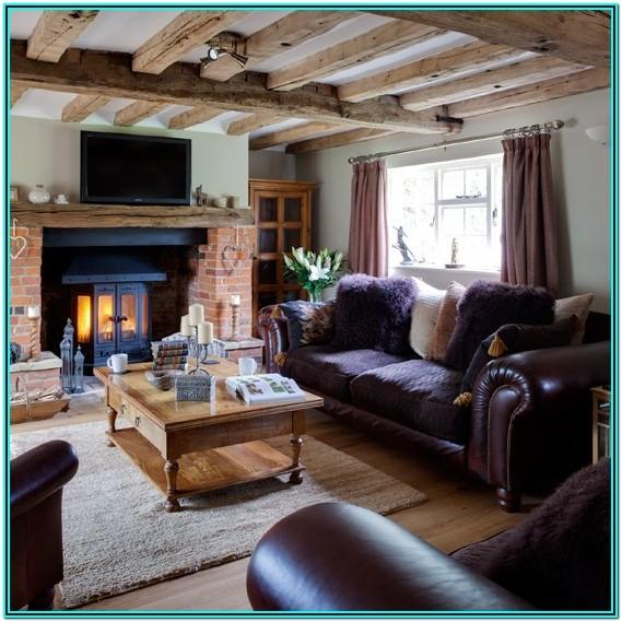 Brown Country Living Room Ideas