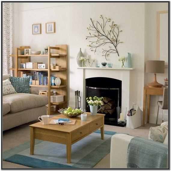 Brown Living Room Ideas With Fireplace