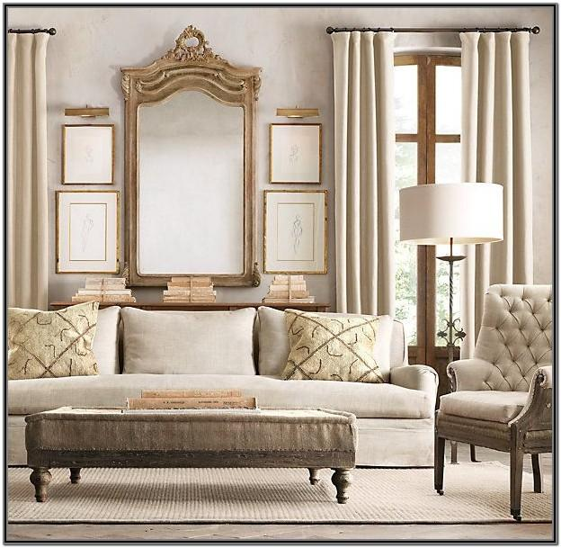 Burlap Sofa Living Room Ideas