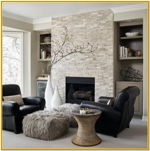 Carpet And Fireplace Living Room Design Ideas