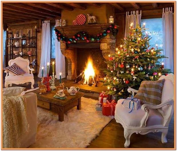 Christmas Living Room Scene Drawing Ideas