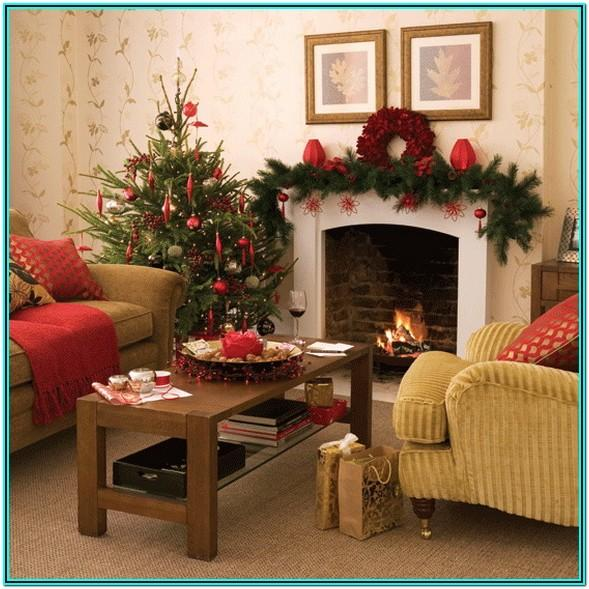 Country Living Room Ideas For Christmas