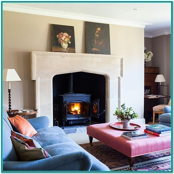 Country Living Room Ideas With Fireplace