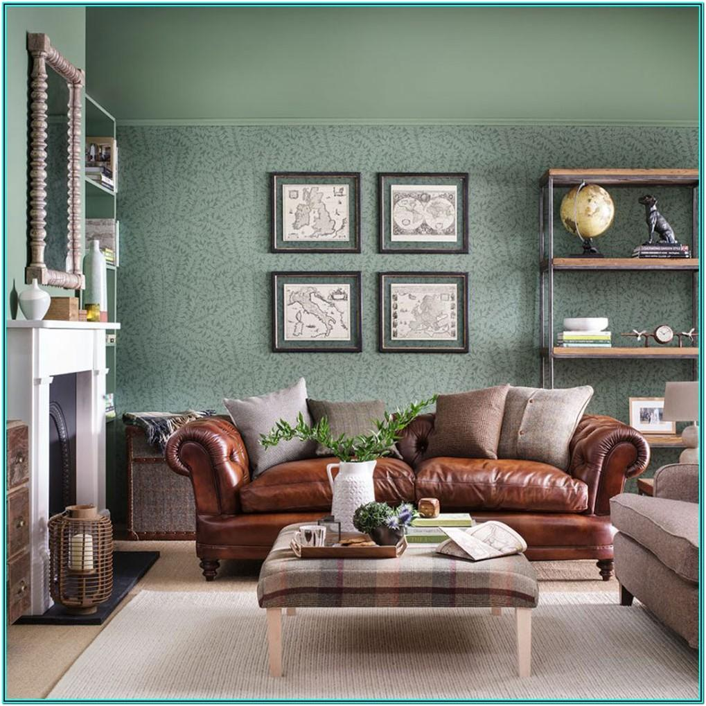Country Living Room Wallpaper Ideas