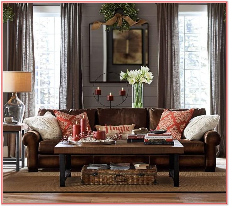 Dark Gray Leather Couch Living Room Ideas