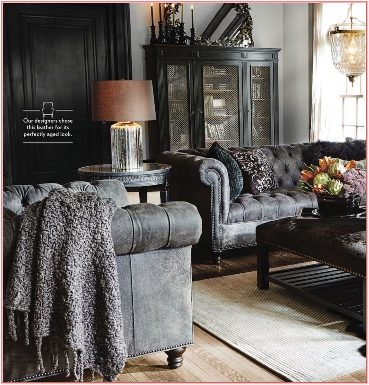 Dark Grey Leather Couch Living Room Ideas