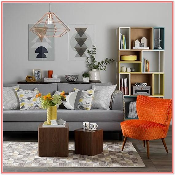 Dark Orange Living Room Ideas